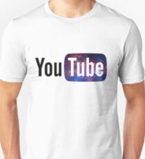Kosmisches YouTube Logo Unisex T-Shirt