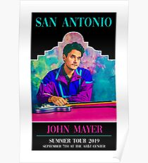 John Mayer (San Antonio, Texas) 2019 Summer Tour Poster Poster