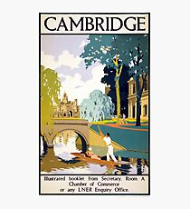 Cambridge Vintage Travel Poster Restored Photographic Print