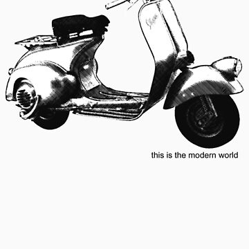 A Casual Classic iconic Vespa scooter inspired design by dylanmccarthy