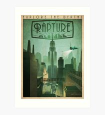 Rapture Art-Deco Travel Poster Art Print
