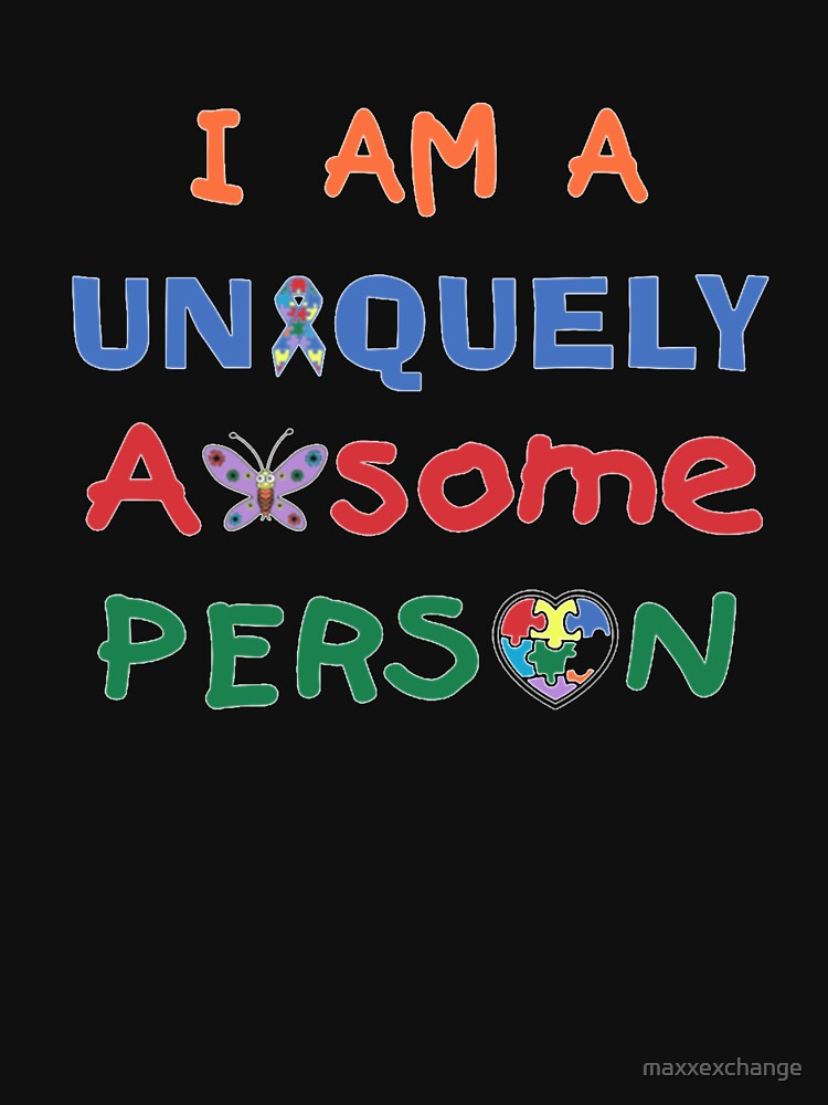 Autism Awareness, Uniquely Awesome Person. Gifts by maxxexchange