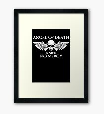 Angel of Death Know No Mercy Framed Print