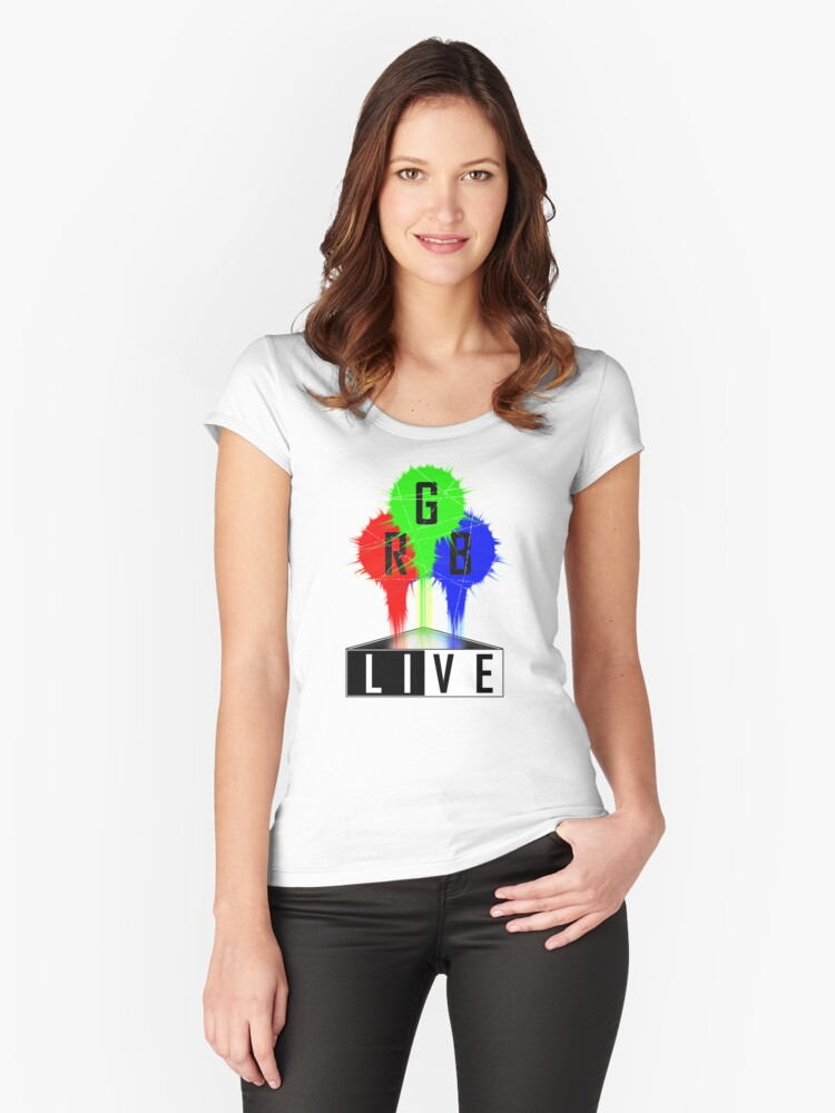 Live-RGB Women's Fitted Scoop T-Shirt Front