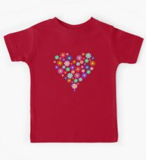 Heart flowers - white Kids Clothes