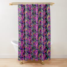 Elastic Orchestra Shower Curtain