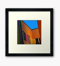 Colourful corner Framed Print