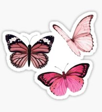 Pink Butterfly stickers *aesthetic* Sticker