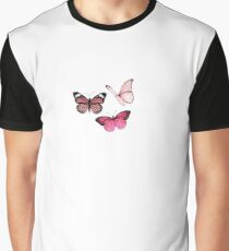 Pink Butterfly stickers *aesthetic* Graphic T-Shirt