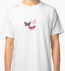 Pink Butterfly stickers *aesthetic* Classic T-Shirt