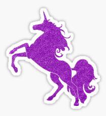 Purple Glitter Unicorn Sticker