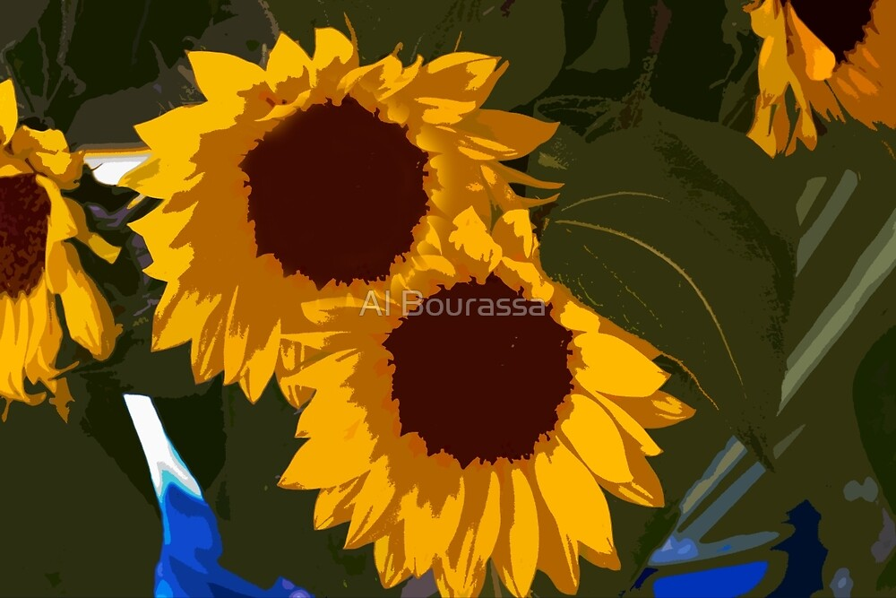 Flower Market Sunflowers Painting by Al Bourassa