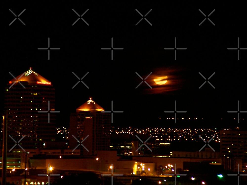 Albuquerque Harvest Moon by Derek Lowe