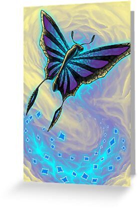 Butterfly with stained glass wings by njumer