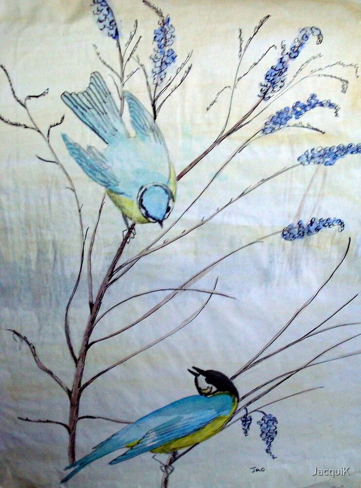 Bluebirds by JacquiK