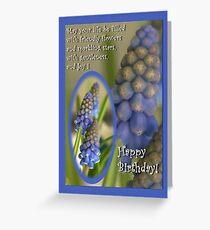Friendly little flowers - birthday card Greeting Card