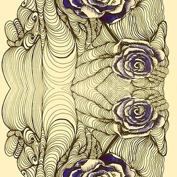 Violet Roses and Op Art by Mastiff-Studios