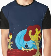 Alien Landscape in Outer Space Graphic T-Shirt