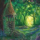 """Light of the Forest"" Fantasy Landscape Painting by Erica Kilbourn"