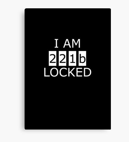 I am 221b locked Canvas Print