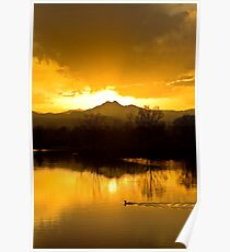 Golden Ponds Sunset Poster