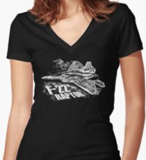 F-22 RAPTOR Women's Fitted V-Neck T-Shirt