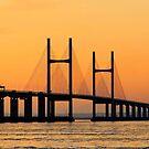 Severn Bridge at Sunset by David Carton