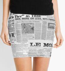 Newsprint Mini Skirt