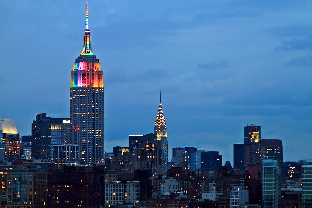 Empire State Building & Chrysler Building by pmarella