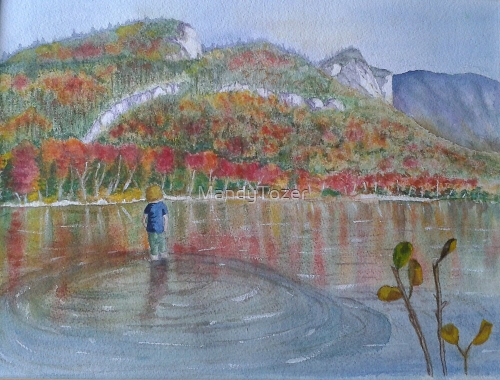 Echo Lake in Fall by MandyTozer