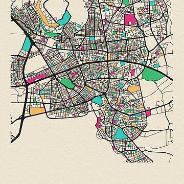 Mapa de calles de Antalya, Turquía de geekmywall