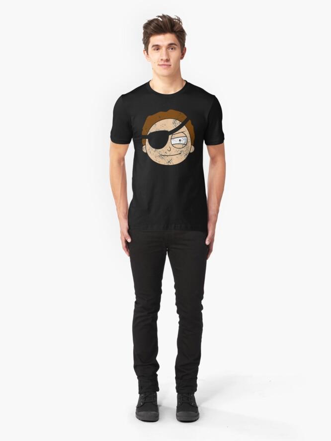 Alternate view of Vintage Evil Morty Slim Fit T-Shirt