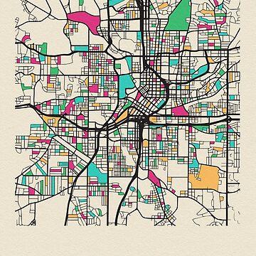 Mapa de calles de Atlanta, Georgia de geekmywall
