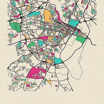 Mapa de calles de Augusta, Georgia de geekmywall
