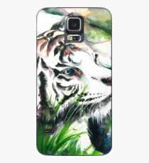 White Tiger Watercolor Case/Skin for Samsung Galaxy