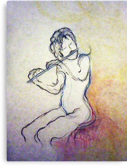 FLUTE PLAYER by Tammera