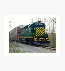 SMS Lines - Deisel Locomotive with Sharp New Paint - NY - © 2010 Art Print