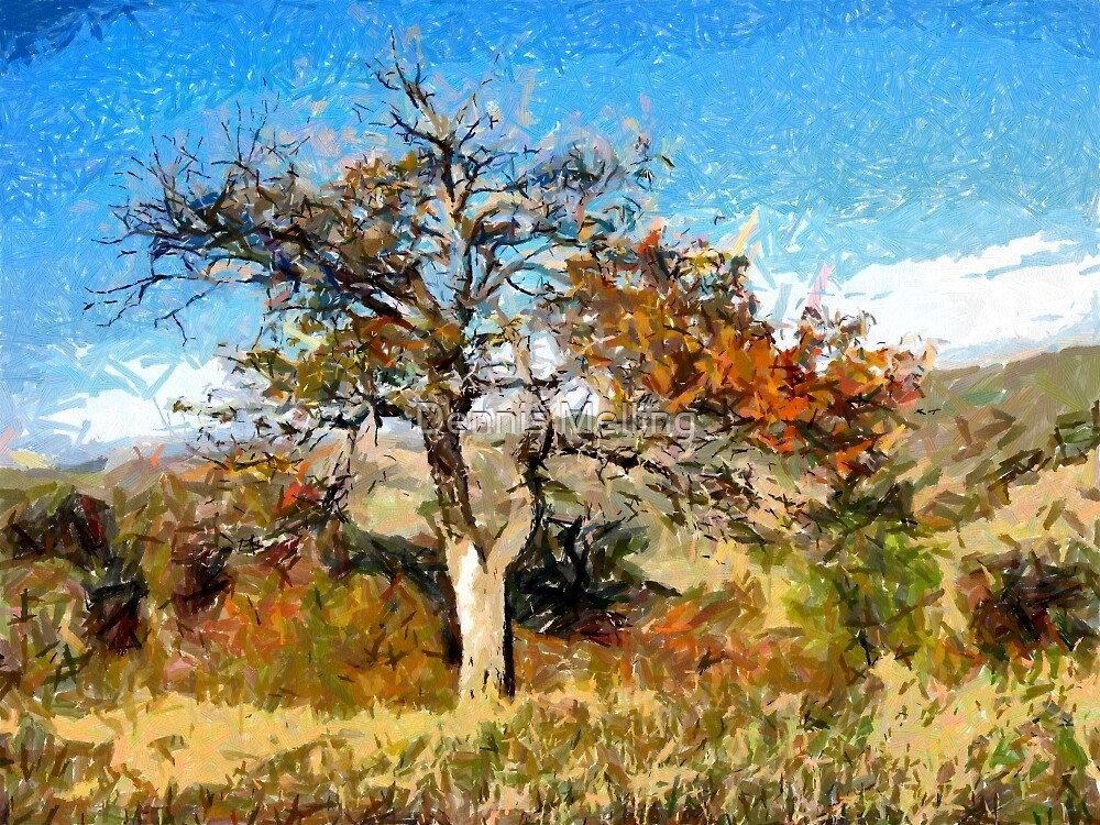 A digital painting of A Tree in Romania by Dennis Melling