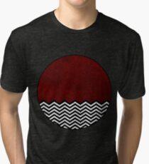 Camiseta de tejido mixto Chevron rojo