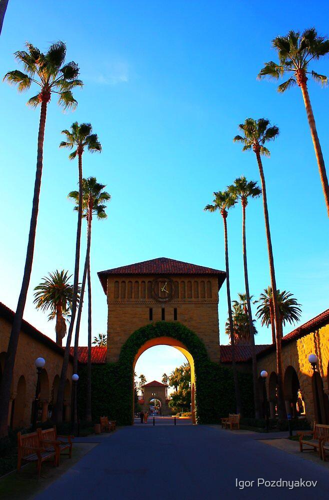 Stanford University Campus. An Archway to the Quad. California 2009 by Igor Pozdnyakov