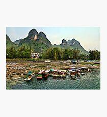 Li River, Guilin in China Photographic Print