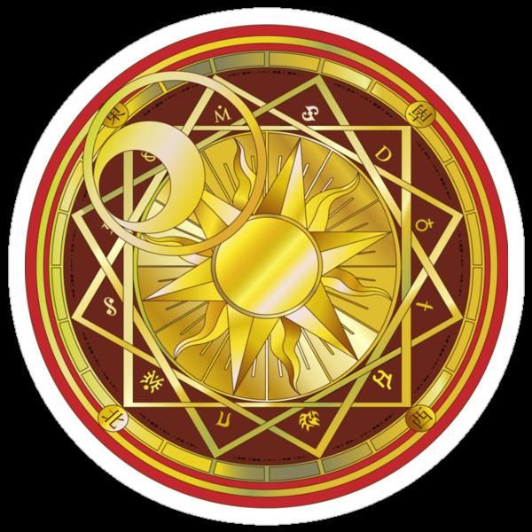 """Clow Reed's Magic Circle - Cardcaptor Version"" Stickers ..."