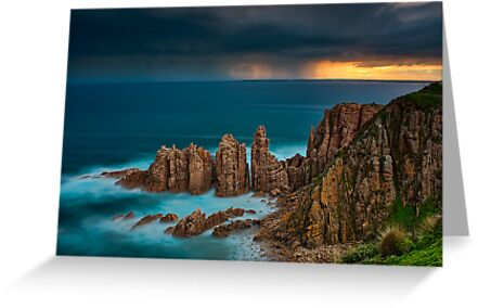 Stormy Sunset Above The Pinnacles by Jason Green