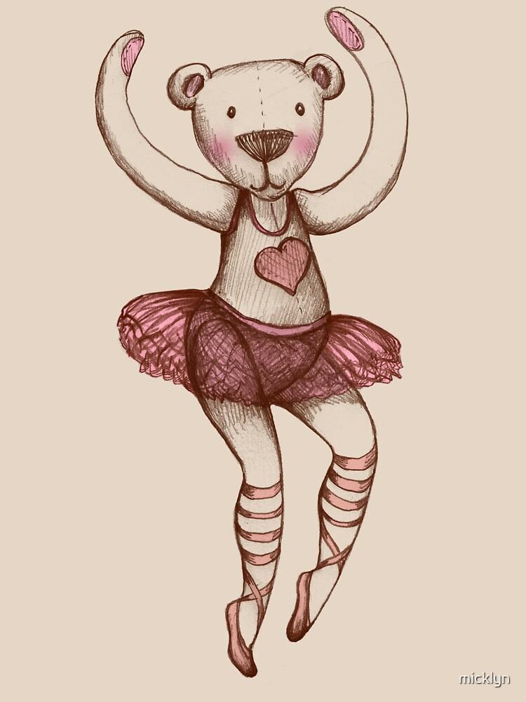 Ballerina Teddy by micklyn