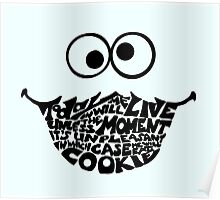 Cookie Monster Typography  Poster
