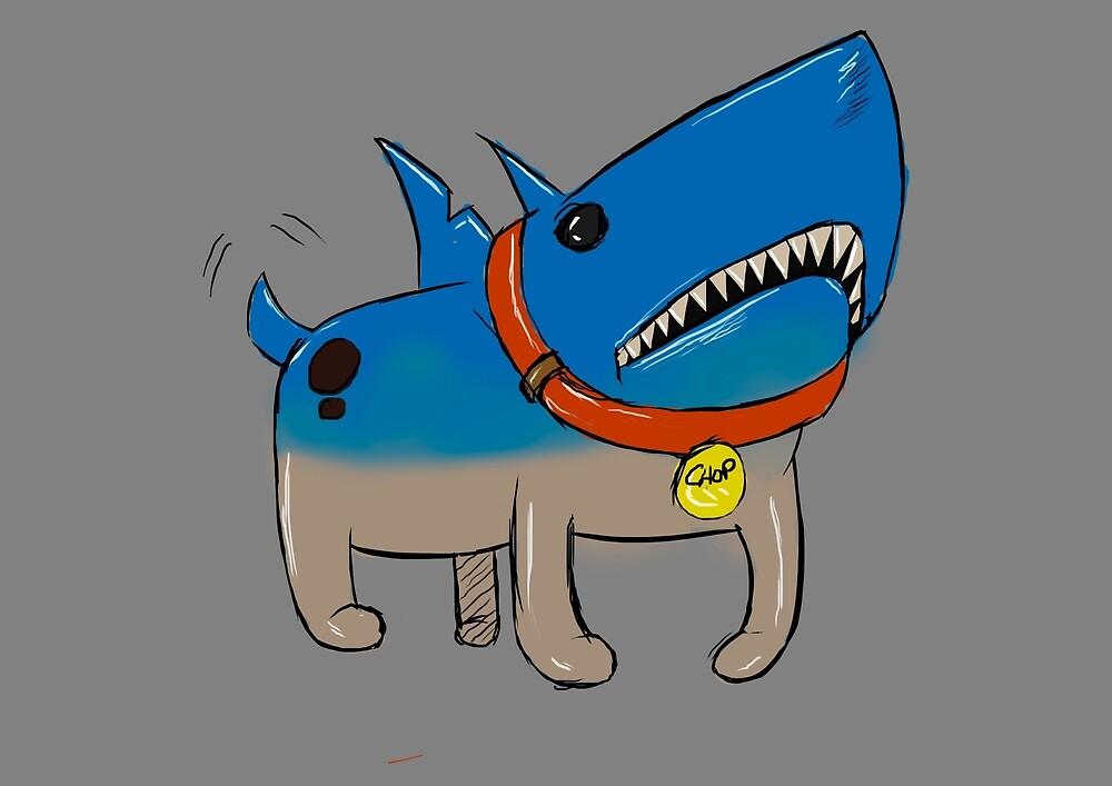 Shark-dog by EduardColl