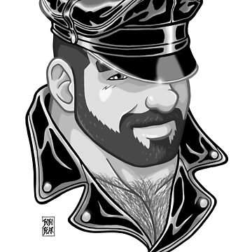ADAM LIKES LEATHER - BLACK AND WHITE by bobobear