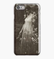 Flower Child, Black and White iPhone Case/Skin