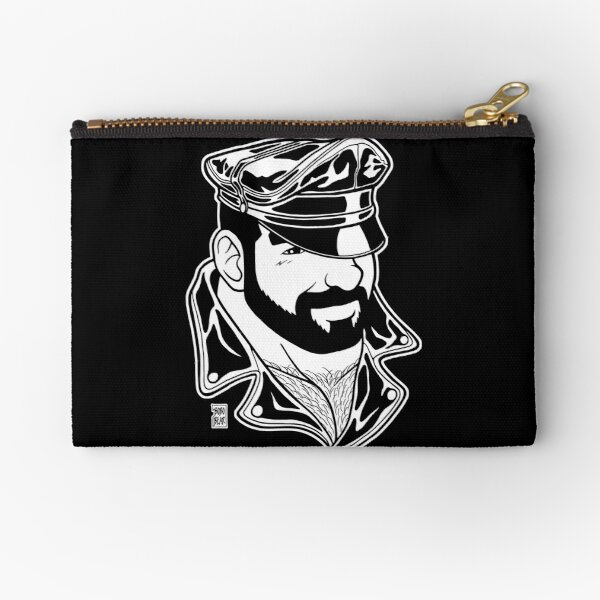 ADAM LIKES LEATHER - LINEART Zipper Pouch