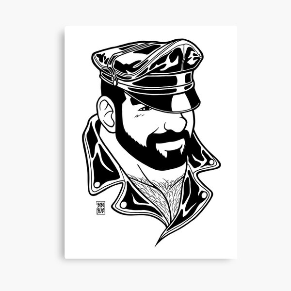 ADAM LIKES LEATHER - LINEART Canvas Print